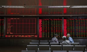 Chinese investot at a brokerage house in Beijing today