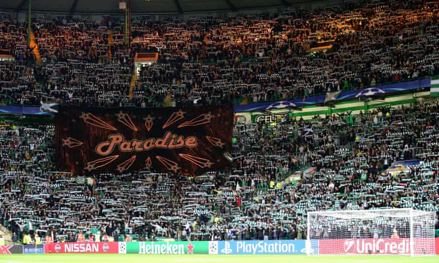 What could possibly tempt a young football fan to Celtic Park?