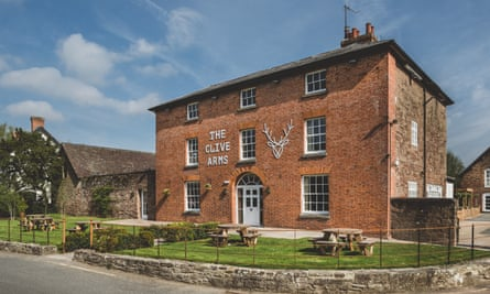 Exterior of The Clive Arms Shropshire