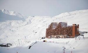 La Mongie ski resort sits among imposing peaks.