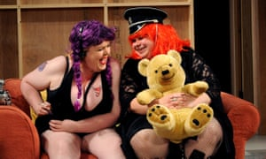 As jolly as a Carry On movie … Lu Corfield and Debbie Chazen in The Girlfriend Experience at the Young Vic in 2009.