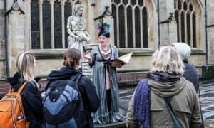 Sheila Hannon takes visitors to Bath on a Mary Shelley walk through the city.