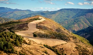 The Cévennes national park, in the Massif Central, France