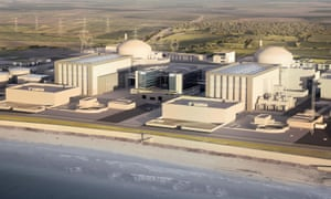 An artist's impression of the new Hinkley Point C nuclear power station in Somerset, England