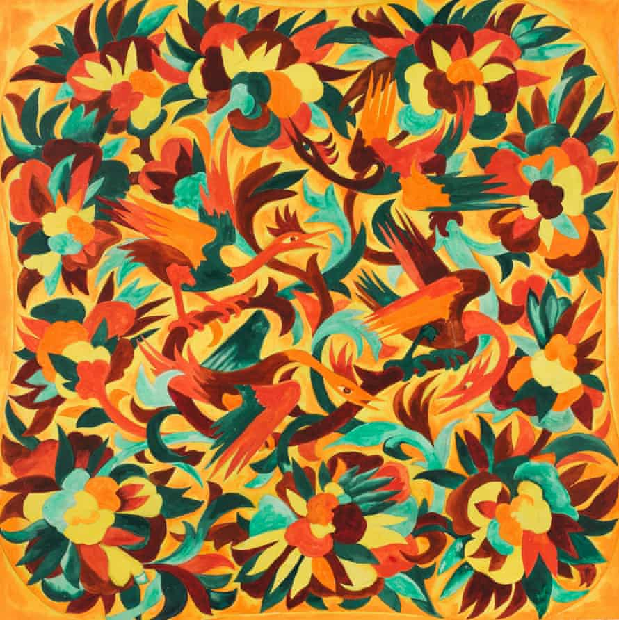 Study for textile design for House of Myrbor 1925-1928.