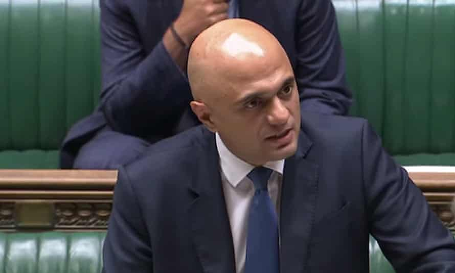 Sajid Javid gives a statement to MPs.
