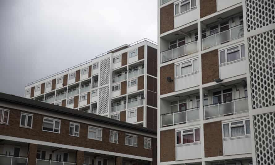 A residential tower block in an area of Lambeth