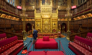 The Lords Chamber in the Palace of Westminster.
