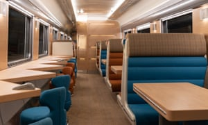The inside of a Caledonian Sleeper train.