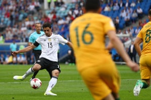 Germany's Lars Stindl fires in the opening goal.