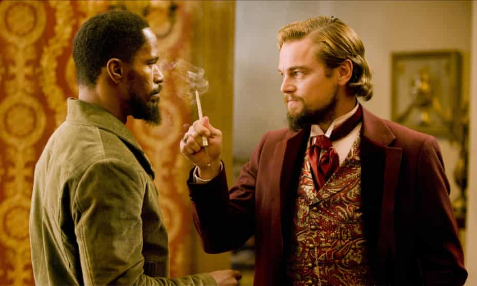 Jamie Foxx and Leonardo DiCaprio in Django Unchained.