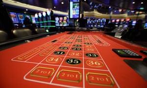 The casino area on the cruise ship.
