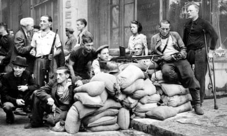 Members of the French resistance, Paris, 1944.