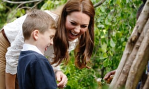 The Duchess of Cambridge in her garden, Back to Nature, at the Chelsea Flower Show.