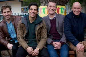 The cast of House Husbands, a comedy-drama from the Nine Network that was axed this week