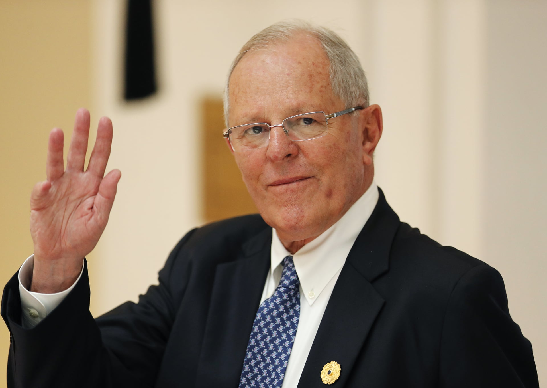 Peru's President Pedro Pablo Kuczynski survived a vote in Congress yesterday to impeach him, but remains under pressure to block a proposed law promoting highway construction in the remote Amazon. Photograph: Jorge Silva/AP