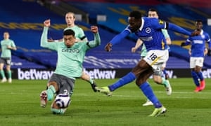 Danny Welbeck with an effort on goal.