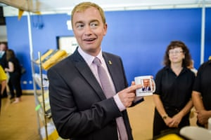 Self-regarding. Liberal Democrats leader Tim Farron at the party's annual conference in Bournemouth International Centre in 2015