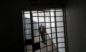 Former political prisoner Domingos Abrantes inside the fortress in Peniche.