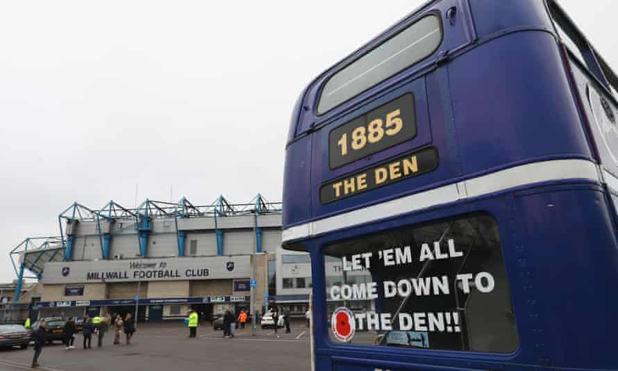 The Den before Millwall's FA Cup match against  Bournemouth