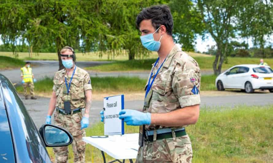 A testing unit run by UK armed forces personnel in the West Midlands last week
