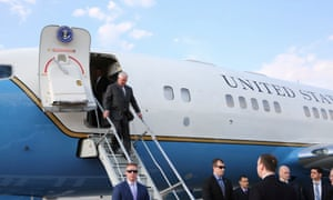 Rex Tillerson arriving in Moscow
