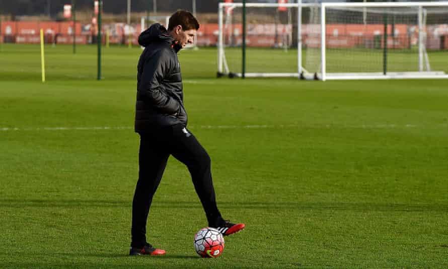 Steven Gerrard at Liverpool's academy