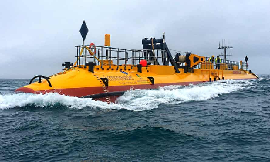 The SR2000 tidal power turbine off the coast of Orkney