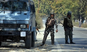 Indian soldiers in Kashmir. Tensions have risen since India revoked the region's special status