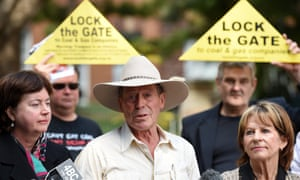 A Lock the Gate rally opposing the expansion of the Acland open cut coal mine.