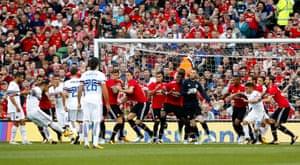 Fabio Quagliarella shoot for Sampdoria against Manchester United in a pre-season friendly in Ireland in 2017.