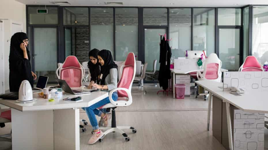 SheWorks in Riyadh, Saudia Arabia, a women-only workspace where would-be businesswomen can seek advice