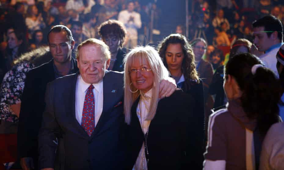 Casino billionaire Sheldon Adelson and his wife Miriam Adelson are widely known for their record donations to Republican causes.