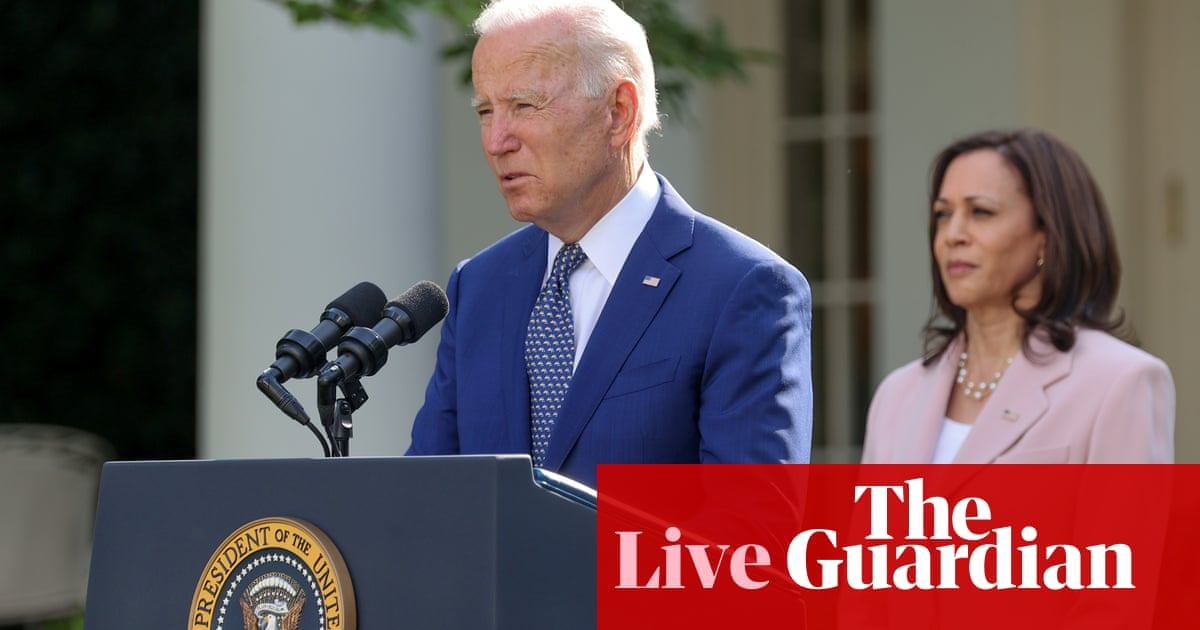 Joe Biden to tout strong July jobs numbers – US politics live