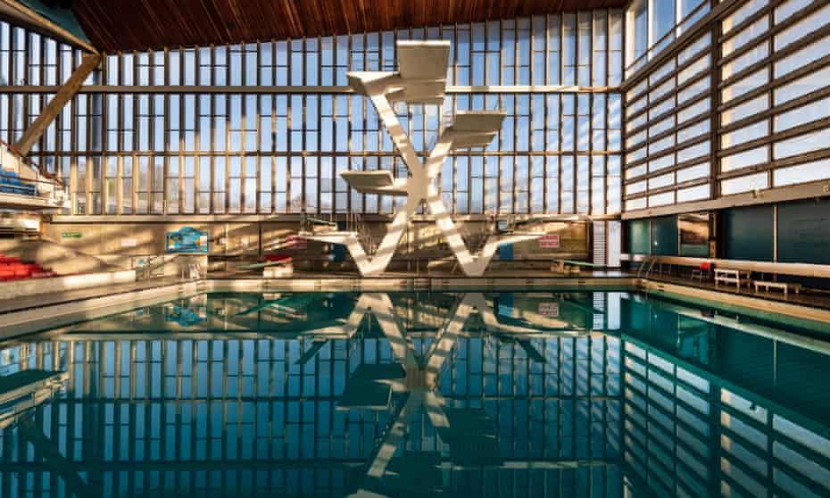 Diving platforms at Crystal Palace National Sports Centre