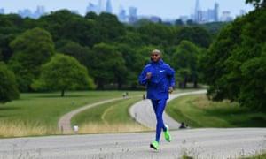Sir Mo Farah running