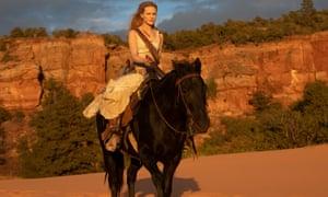 Dolores (Evan Rachel Wood) in Westworld.