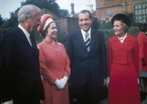 Queen Elizabeth, with then prime minister Edward Heath, Richard Nixon and his wife Patricia, in the UK in 1970