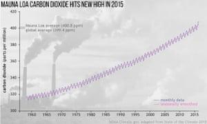 graph shows carbon dioxide levels