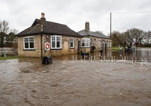 Floodwater near Naburn Lock in York