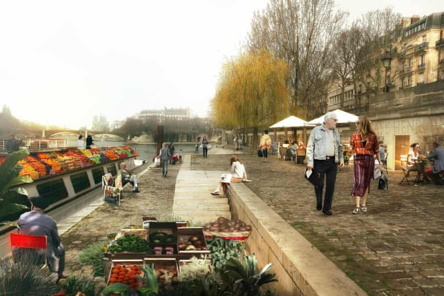 The waterside gardens, children's play areas and grassy walkways as they would look