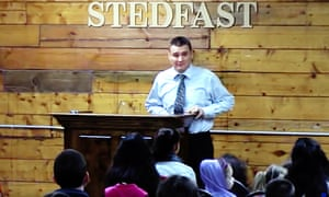 Pastor Donnie Romero in a Stedfast Baptist church Youtube video.