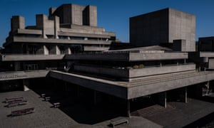 The deserted National Theatre building on the South Bank, London, during the coronavirus outbreak.