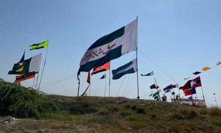 Flags are flying around Bundel's shrine