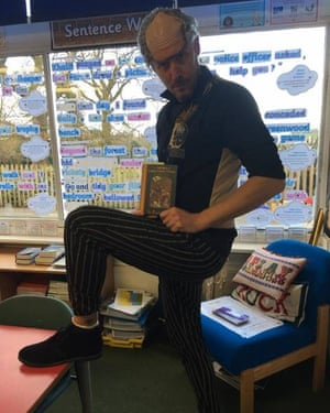 St Andrew's very own Count Olaf - Mr Ian Motton Mr Motton of St Andrew's Primary School,  Nesscliffe