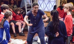 Stoking curiosity … Lakesha Cammock leads the Orange Tree theatre's workshop on The Tempest.