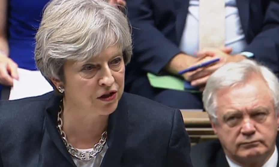Theresa May has had to step in over the head of David Davis.