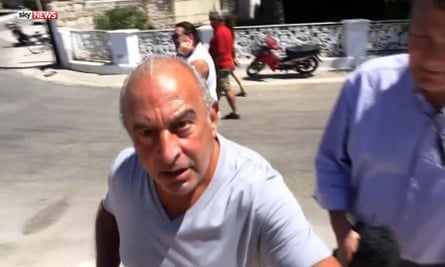 Philip Green tells Sky News to go away in Greece after questions over BHS closure
