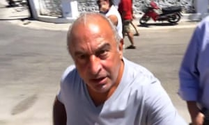 Sir Philip Green shouting angrily at Sky News reporter.
