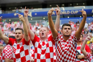 Croatian fans show their support.
